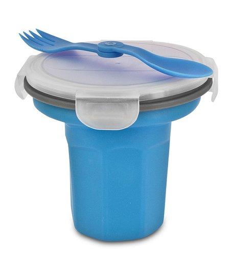 Blue Eco Travel Bowl & Utensil