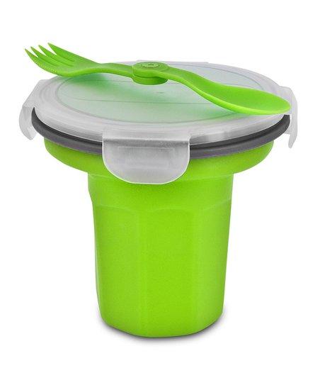 Green Eco Travel Bowl & Utensil