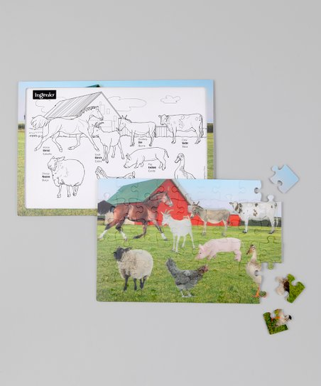 Farm Real 3-D Lenticular Puzzle Set