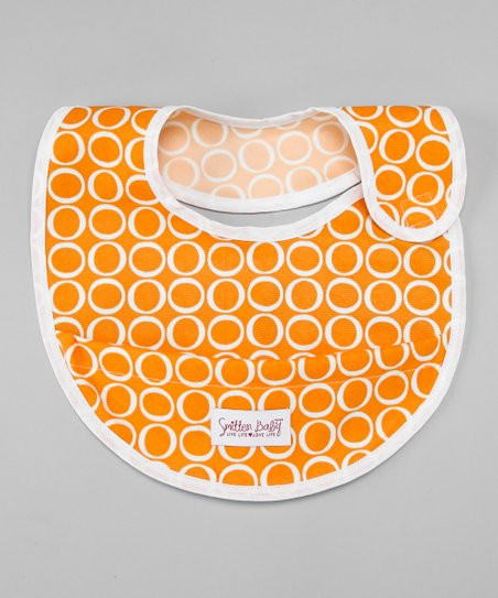 Jack-O&#039;-Lantern Crumb Catcher Bib