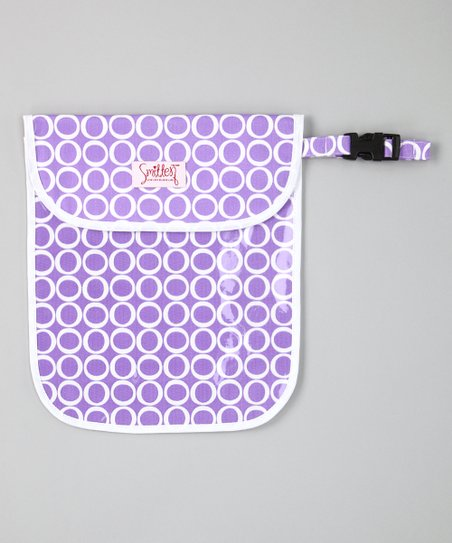 Rich Lavender Clear Handy Tote