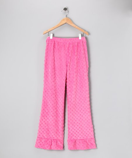 Hot Pink Minky Ruffle Pants - Infant & Girls