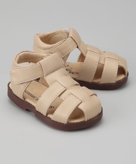 Tan Fisherman Closed-Toe Sandal