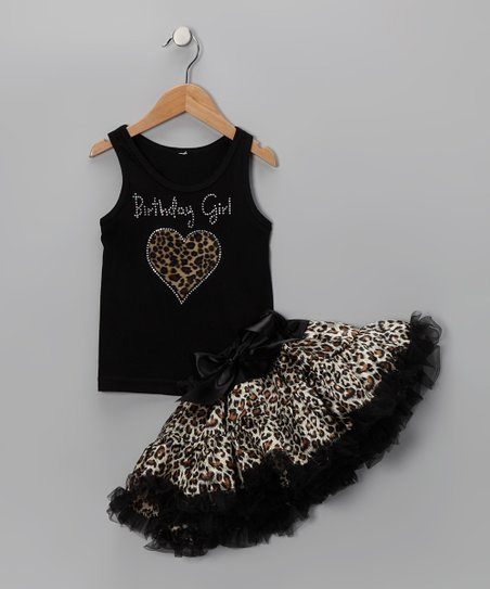 Leopard 'Birthday' Tank & Pettiskirt - Infant, Toddler & Girls
