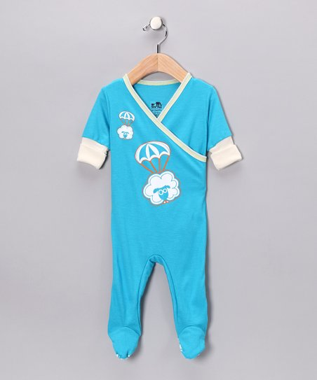 Blue Sheep Surplice Footie - Infant