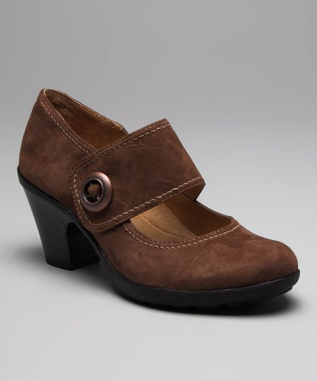 Hersey Brown Suede Cassidy Mary Jane
