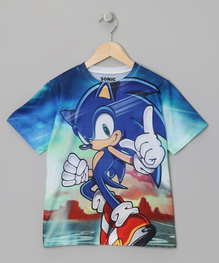 Blue Sonic Sublistatic Tee - Kids