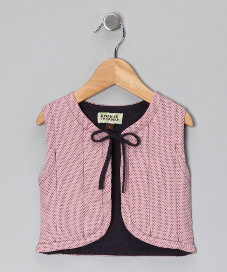 Rose & Midnight Quilted Vest - Infant, Toddler & Girls