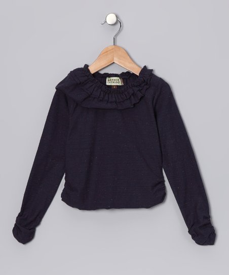 Midnight Ruffle Long-Sleeve Tee - Infant, Toddler & Girls