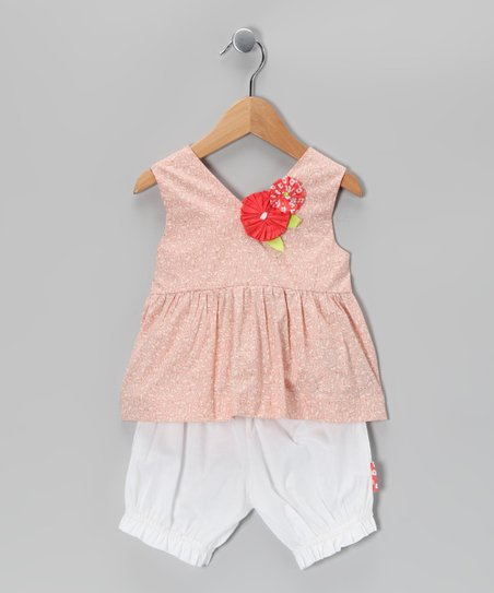 Blush Flower Top & Bloomers - Infant