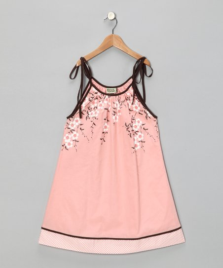 Peach Floral Dress - Infant, Toddler & Girls