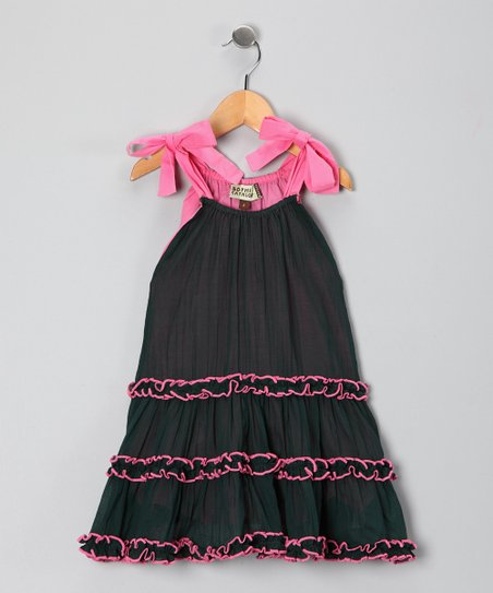 Pink Gizele Ruffle Dress - Toddler & Girls
