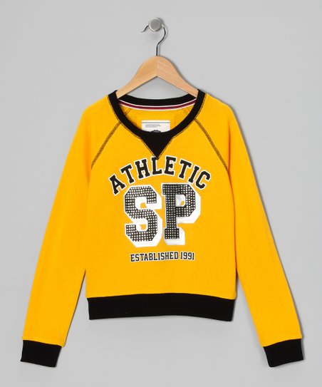 Yellow 'Athletic' Sweatshirt