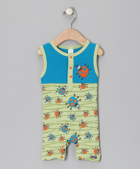 Green & Blue Bug Romper - Infant