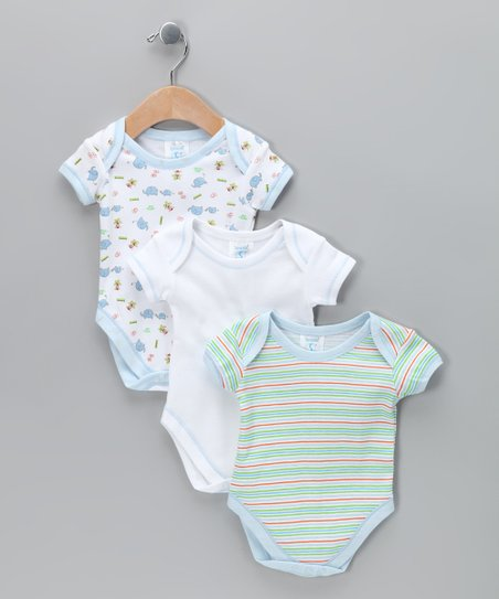 Blue Stripe Bodysuit Set