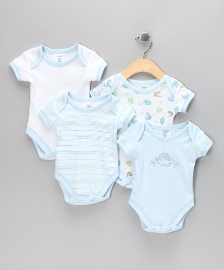 Blue Dinosaur Bodysuit Set