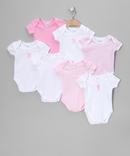 Pink & White Bodysuit Set