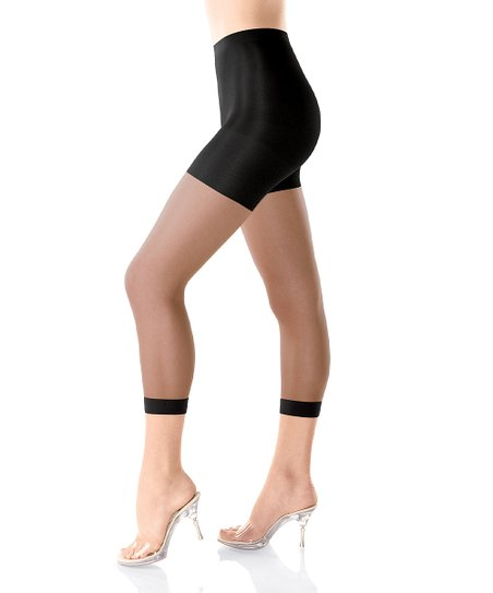 Original Footless Body-Shaping Sheer Pantyhose - Black