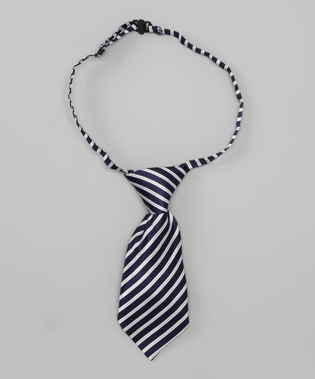 Navy Stripe Adjustable Tie