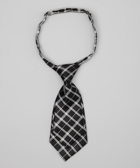 Black & Gray Plaid Tie