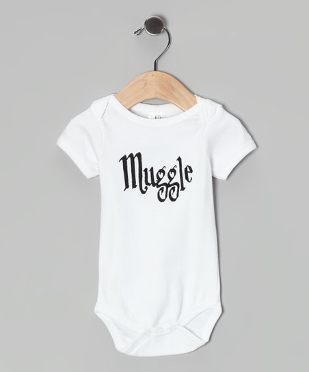 White 'Muggle' Organic Bodysuit - Infant