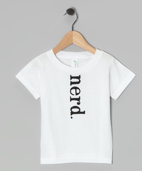 White 'Nerd' Organic Tee - Toddler