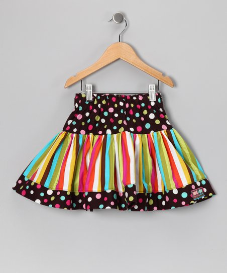 Turquoise Birthday Scoop Twirly Skirt - Infant, Toddler & Girls