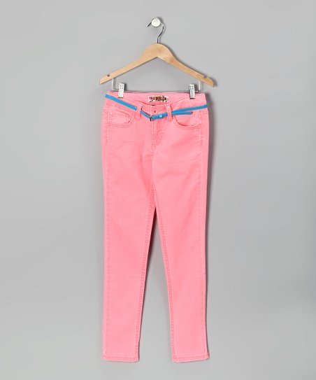 Neon Melon Skinny Jeans - Girls