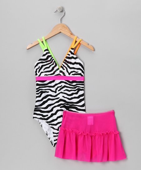 Abra Cadabra Zebra One-Piece & Skirt