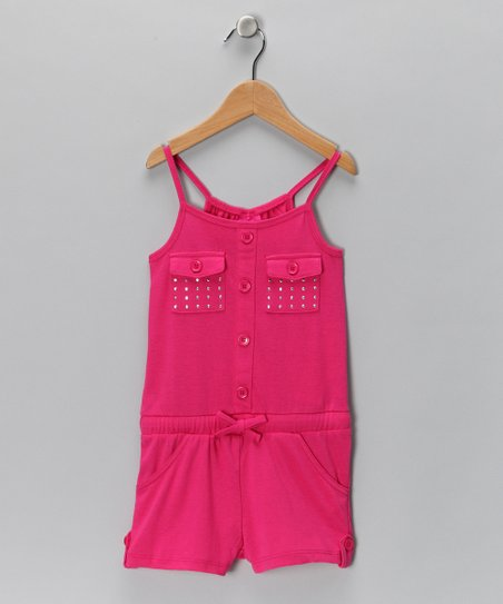 Beet Root Pocket Romper - Girls