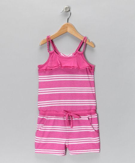 Perfect Pink Stripe Romper - Girls