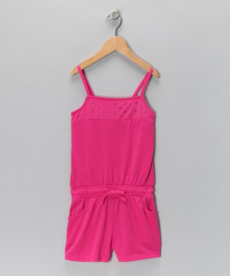 Raspberry Jewel Romper - Girls