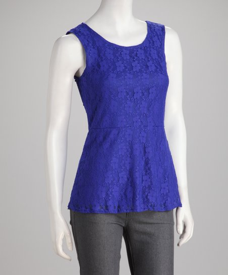 Royal Lace Peplum Top