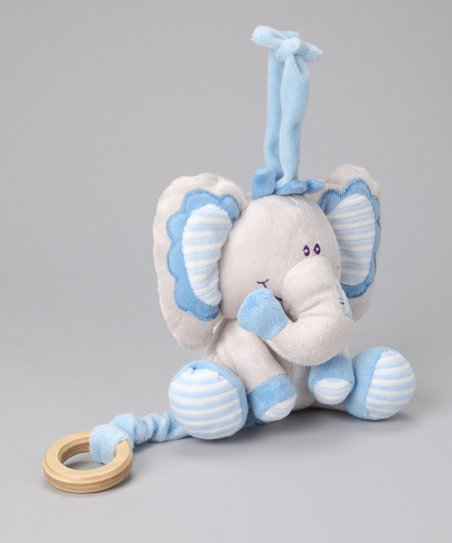 Blue Musical Crib Elephant Plush Toy
