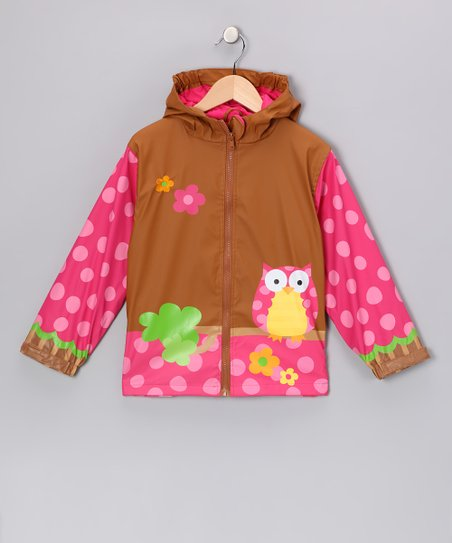 Brown Owl Raincoat - Kids