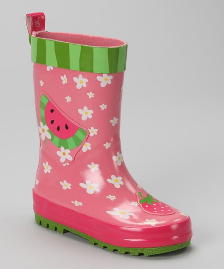 Pink Watermelon Rain Boot