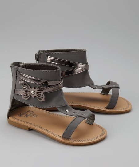Charcoal Butterfly Gladiator Sandal