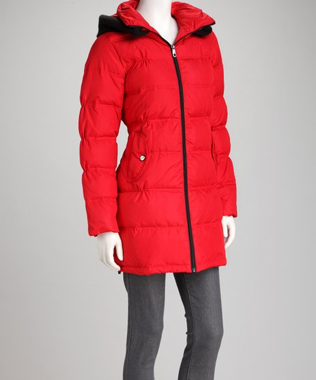Red Down Coat