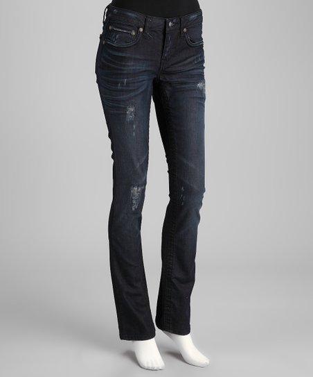 Black Revolution Distressed Seminole Straight-Leg Jeans