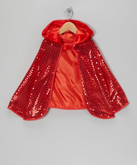 Red Sequin Cape - Girls