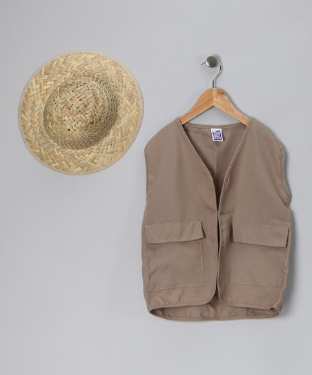 Straw Pith Hat & Vest - Kids