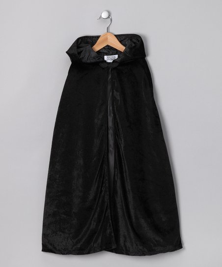 Black Hooded Cape - Kids