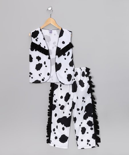 Black & White Cowboy Dress-Up Set - Kids