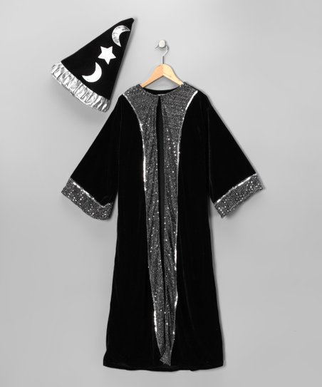 Black Wizard Robe & Hat - Kids