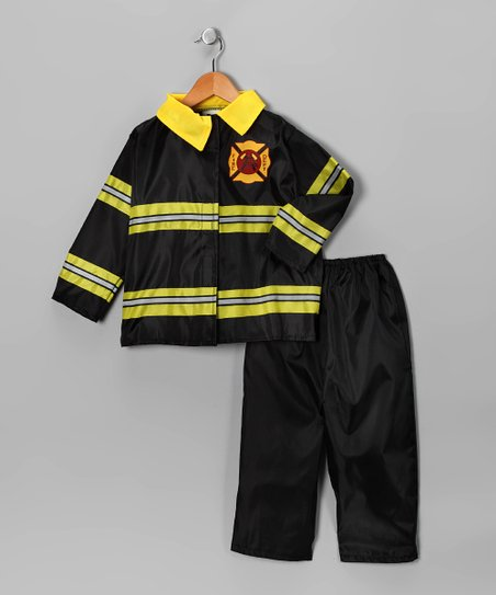 Black Firefighter Dress-Up Set - Toddler & Kids