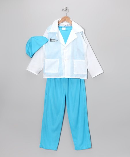 Blue & White Medical Doctor Dress-Up Set - Girls