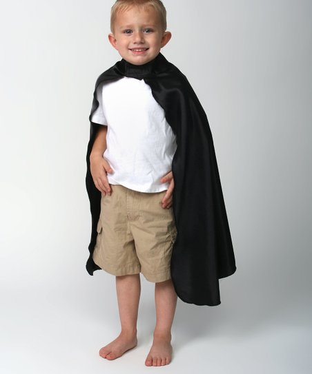 Black Deluxe Satin Cape - Toddler & Kids