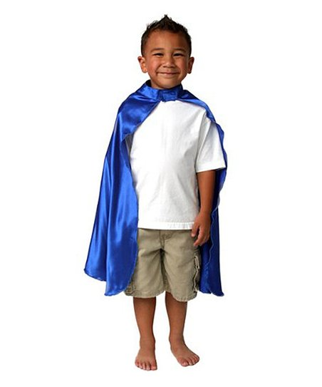 Blue Satin Cape - Toddler & Kids