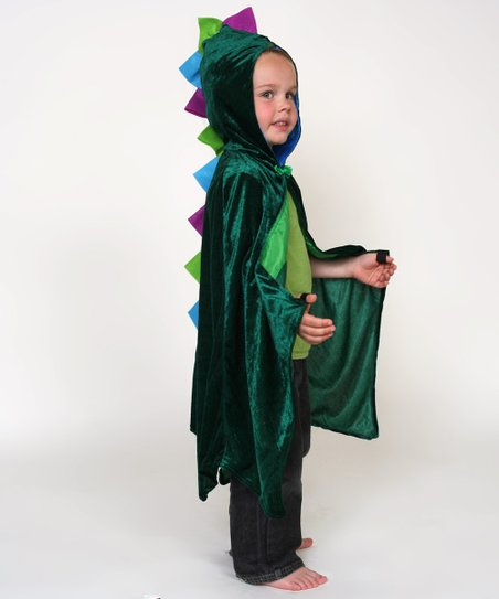 Green Spike Dragon Cape - Kids