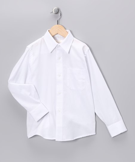 Strasburg White Button-Up - Boys
